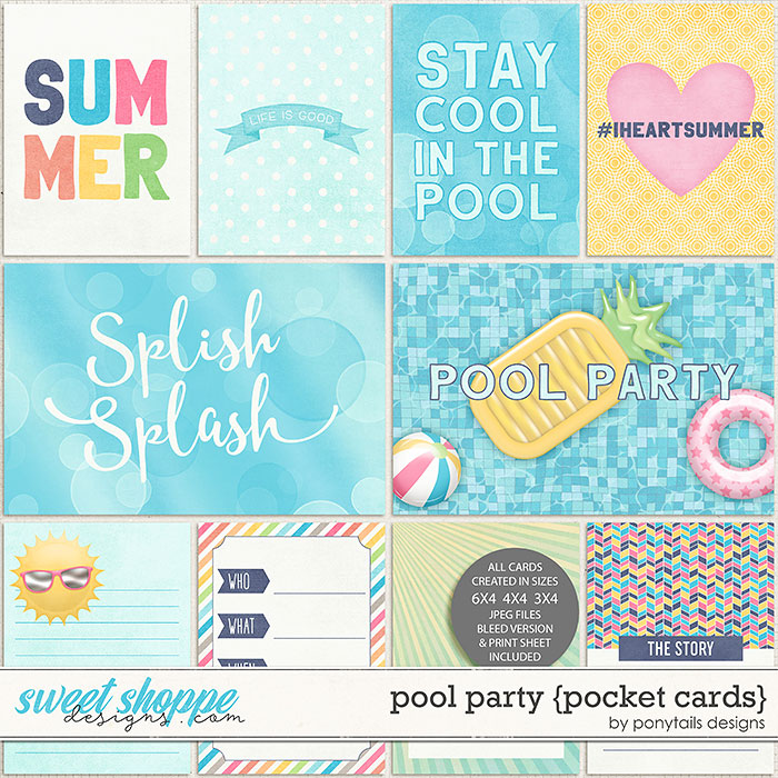 Pool Party Pocket Cards by Ponytails