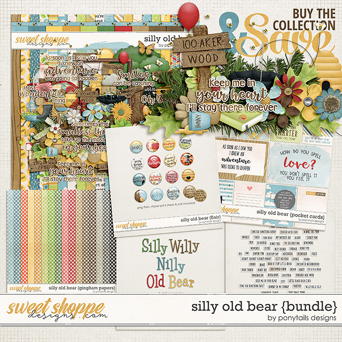 Silly Old Bear Bundle by Ponytails