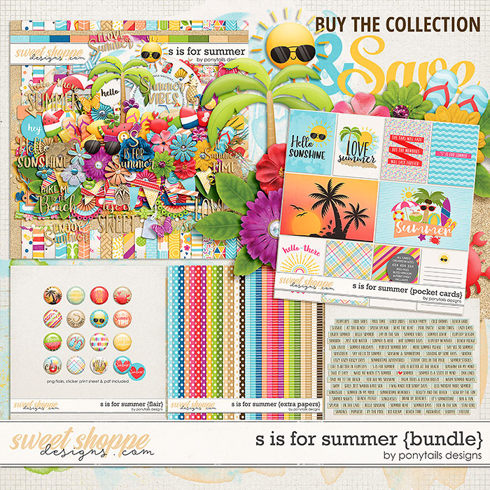 S is for Summer Bundle by Ponytails