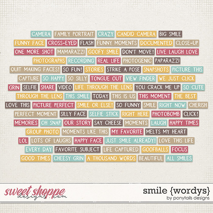Smile Wordys by Ponytails