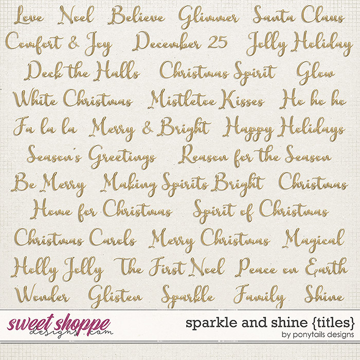 Sparkle and Shine Titles by Ponytails