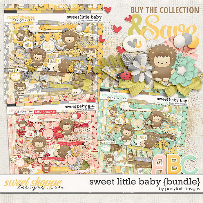 Sweet Little Baby Bundle by Ponytails