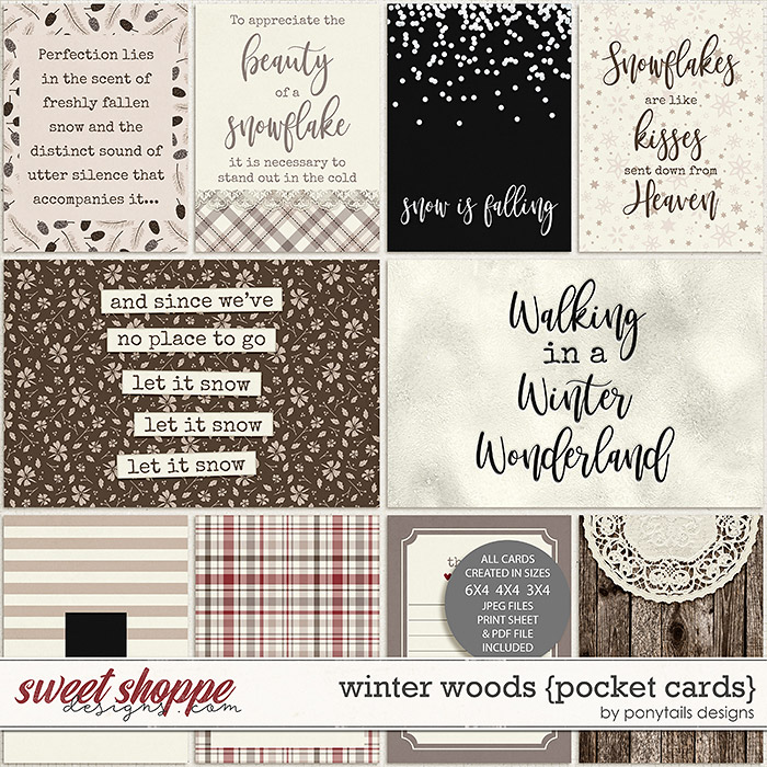 Winter Woods Pocket Cards by Ponytails