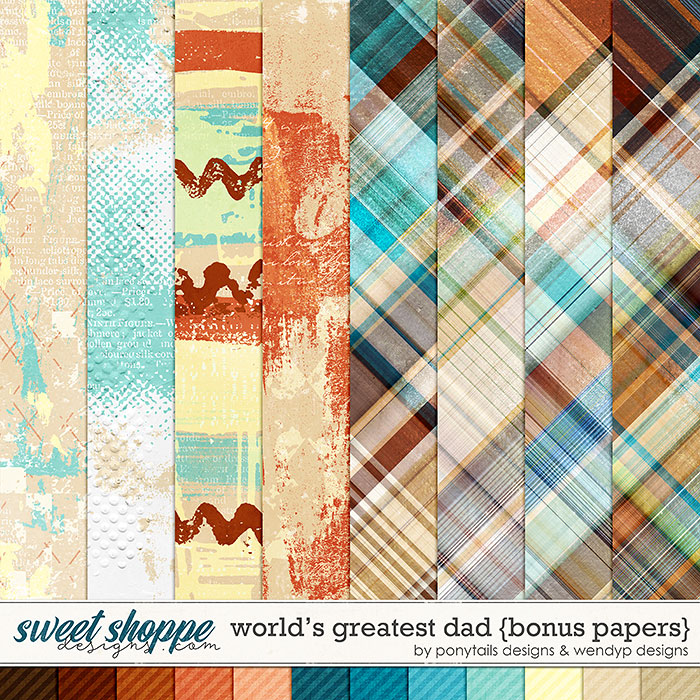 World's greatest dad - bonus papers by Ponytails Designs & WendyP Designs