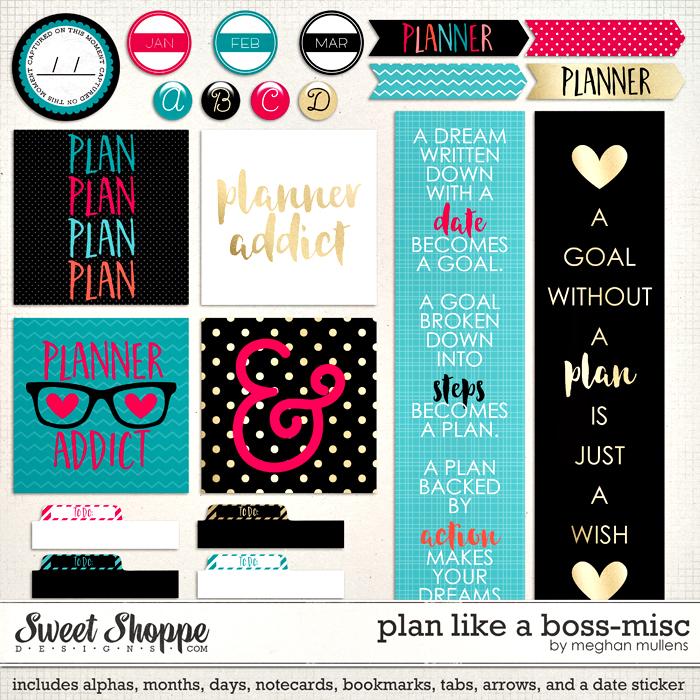 Plan Like a Boss: Planner Misc by Meghan Mullens