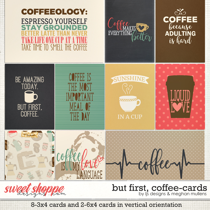But First, Coffee Cards by LJS Designs & Meghan Mullens