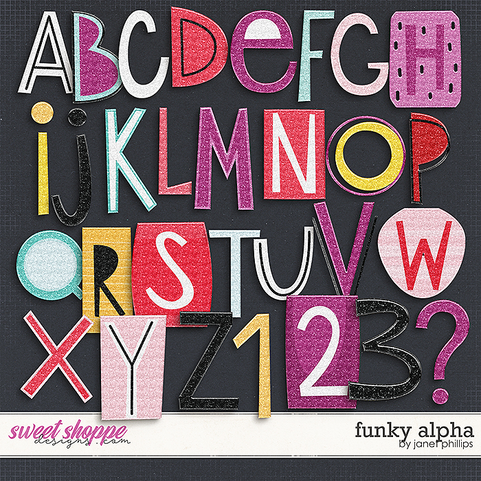 FUNKY ALPHA by Janet Phillips