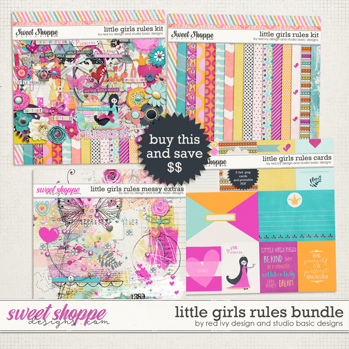 Little Girls Rules Bundle by Red Ivy Design and Studio Basic Designs