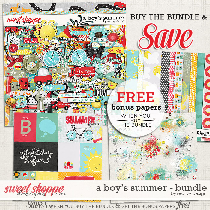 A Boy's Summer - Bundle by Red Ivy Design