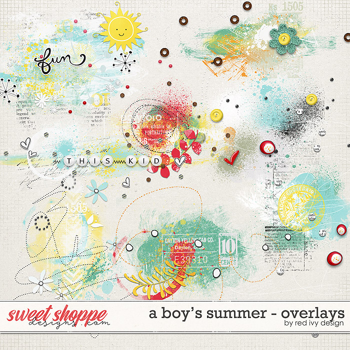 A Boy's Summer - Overlays