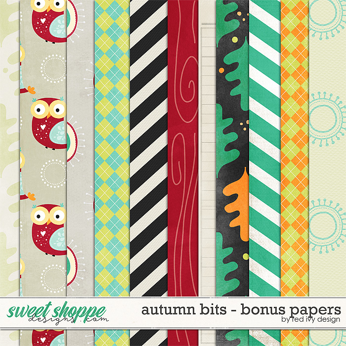 Autumn Bits - Bonus Papers by Red Ivy Design
