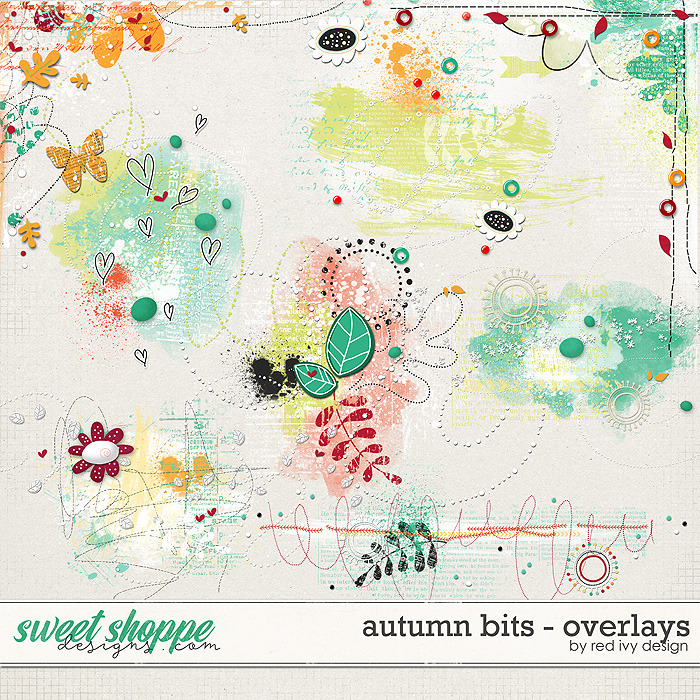 Autumn Bits - Overlays by Red Ivy Design