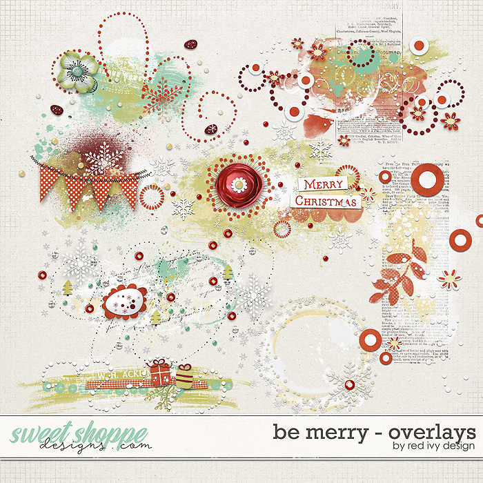 Be Merry - Overlays by Red Ivy Design