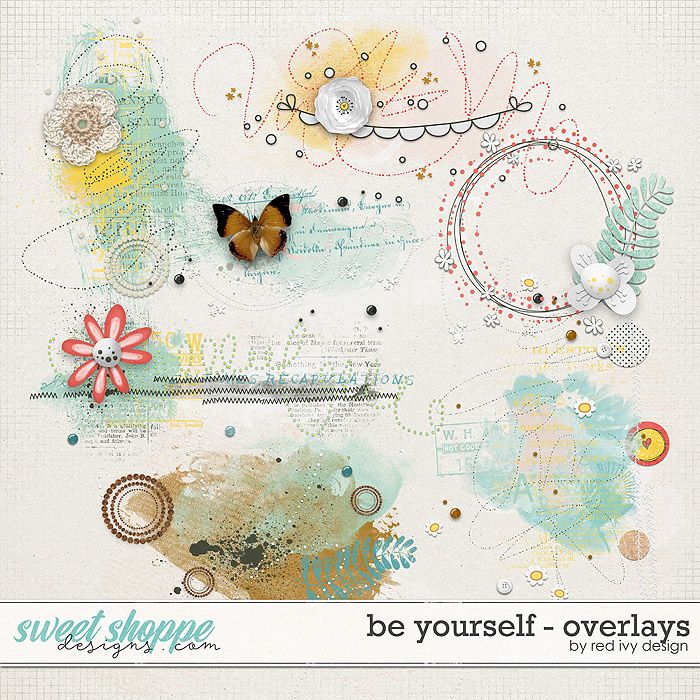 Be Yourself - Overlays by Red Ivy Design