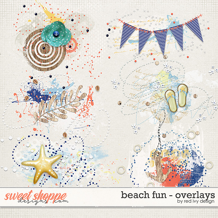 Beach Fun - Overlays by Red Ivy Design