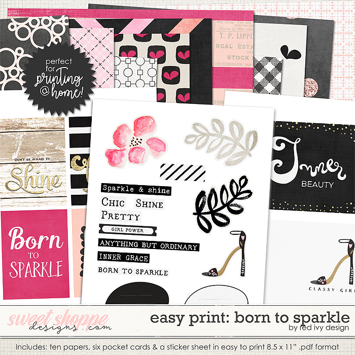 Easy Print: Born To Sparkle