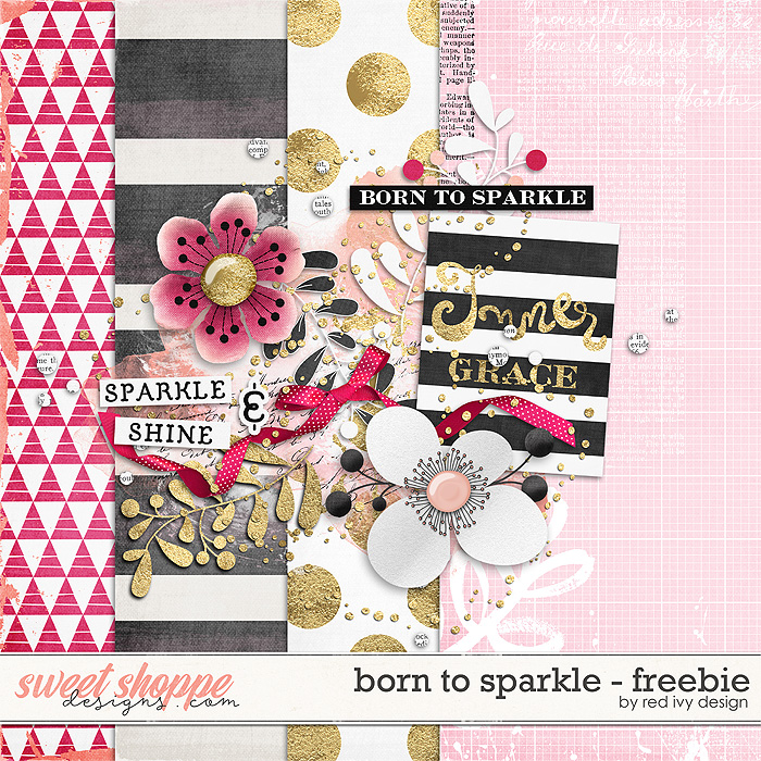 Born To Sparkle - Freebie by Red Ivy Design