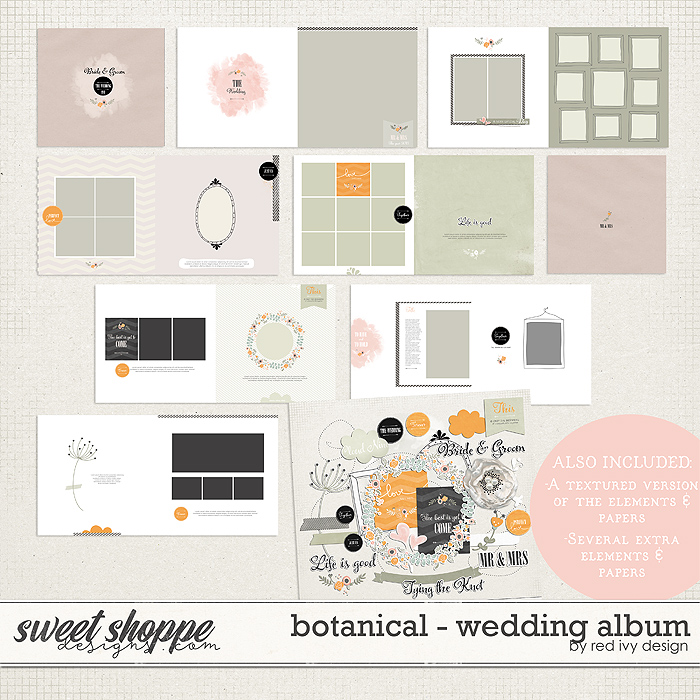 Botanical - Wedding Album by Red Ivy Design