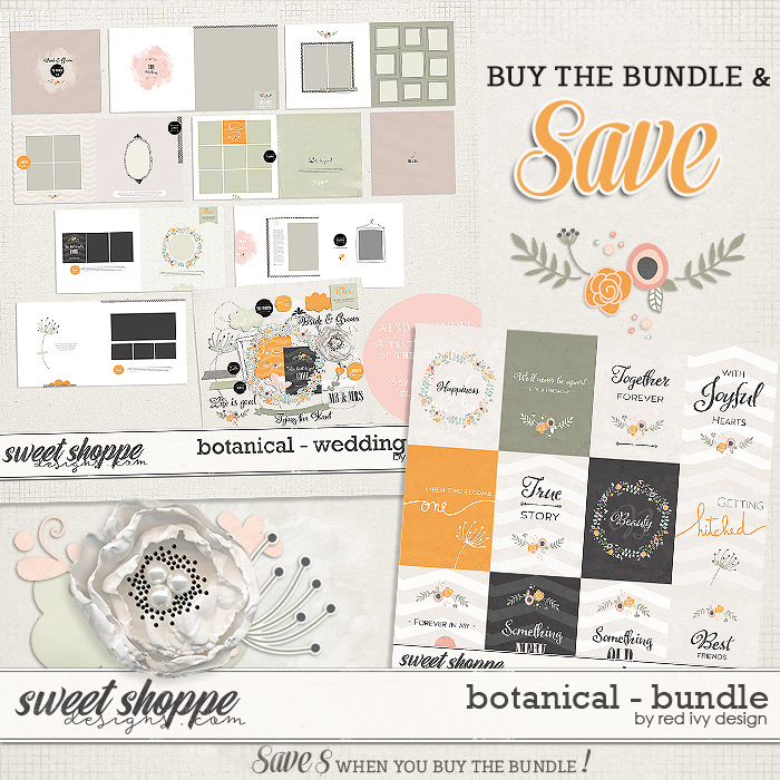 Botanical - Wedding Album - Bundle by Red Ivy Design