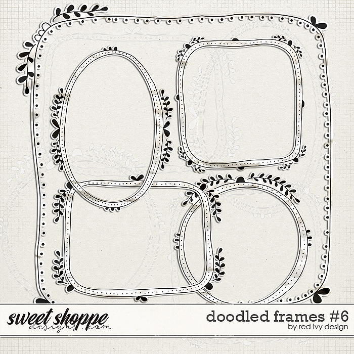 Doodled Frames #6 by Red Ivy Design