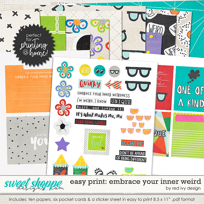 Easy Print: Embrace Your Inner Weird