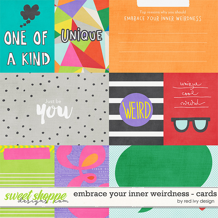 Embrace Your Inner Weirdness - Cards by Red Ivy Design