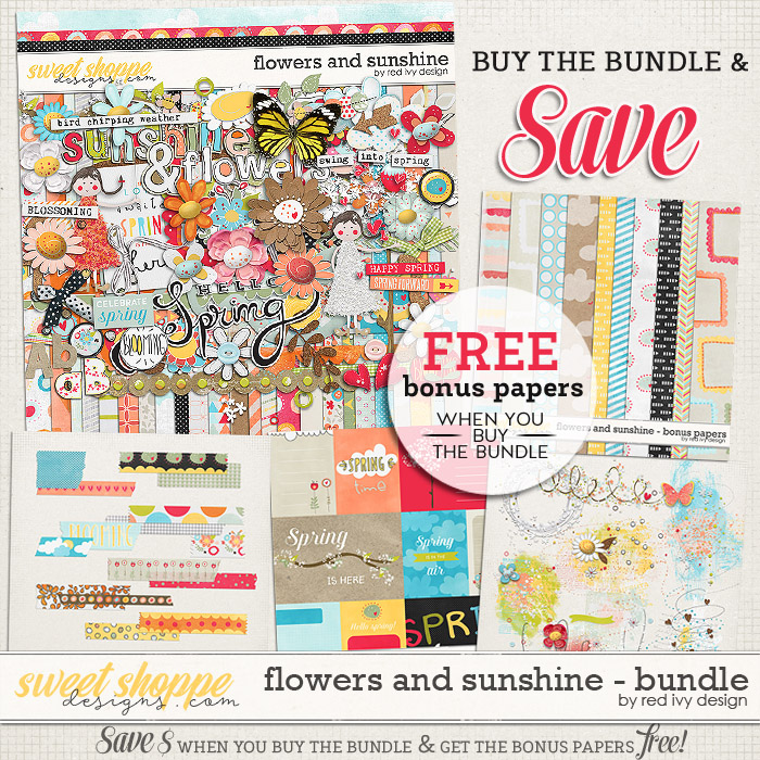 Flowers and Sunshine - Bundle by Red Ivy Design