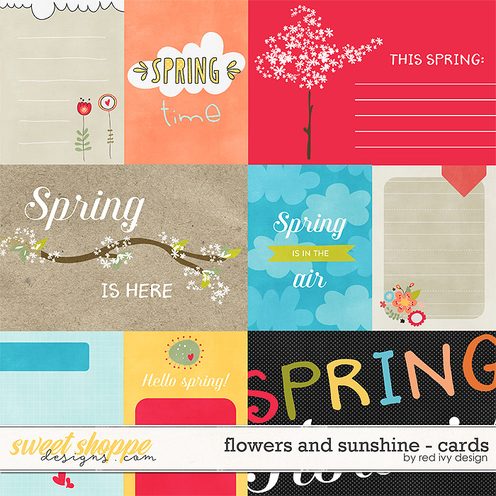 Flowers and Sunshine - Cards by Red Ivy Design