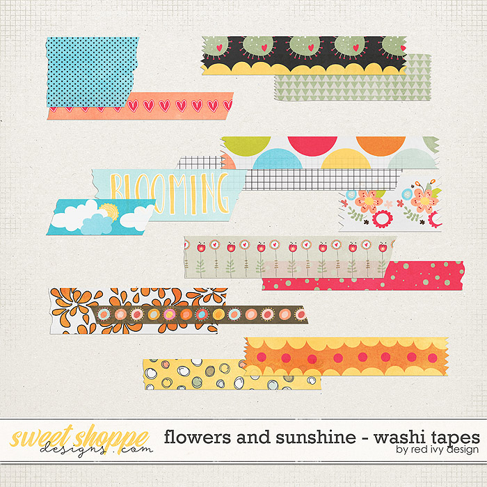 Flowers and Sunshine - Washi Tapes by Red Ivy Design