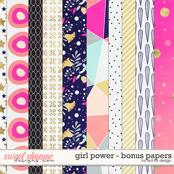 Girl Power - Bonus Papers by Red Ivy Design