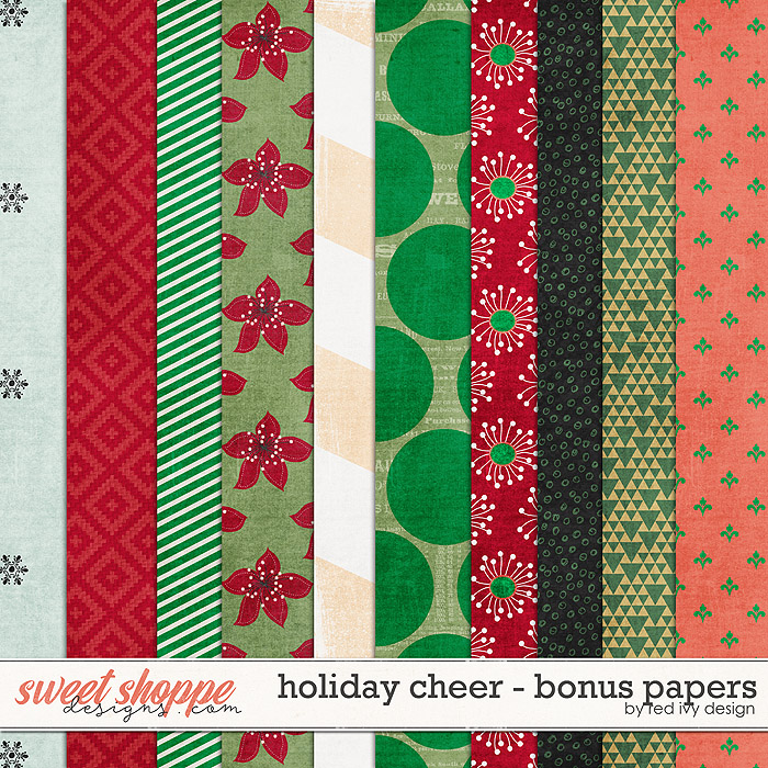 Holiday Cheer - Bonus Papers by Red Ivy Design