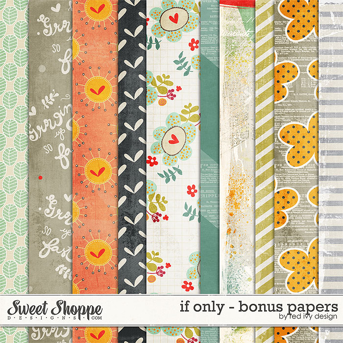 If Only - Bonus Papers - by Red Ivy Design