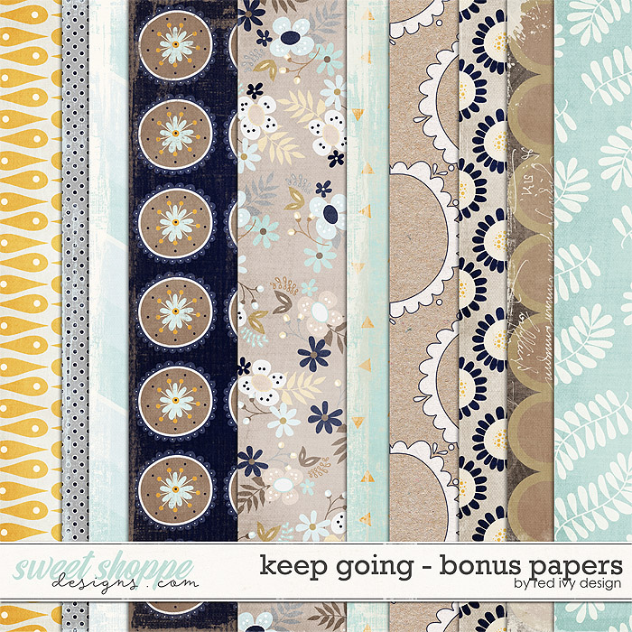 Keep Going - Bonus Papers - by Red Ivy Design