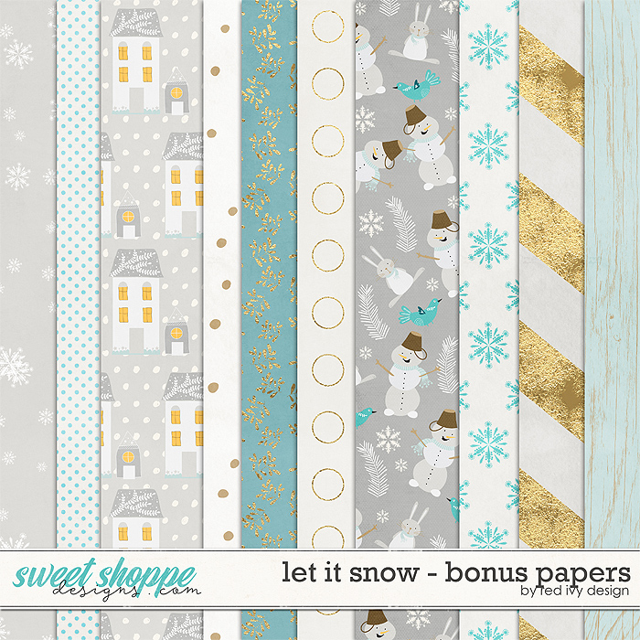Let It Snow - Bonus Papers by Red Ivy Design
