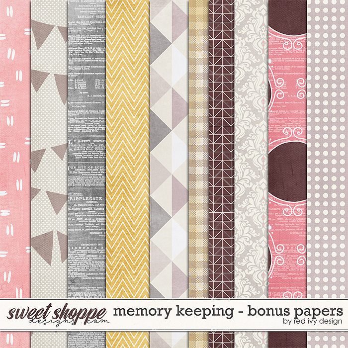 Memory Keeping - Bonus Papers by Red Ivy Design
