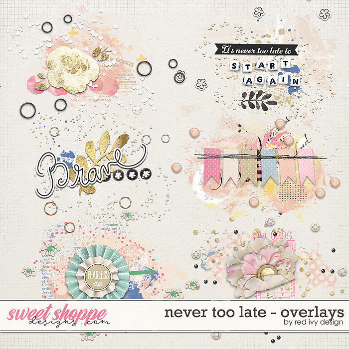 Never Too Late - Overlays by Red Ivy Design