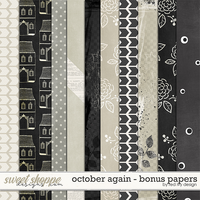 October Again - Bonus Papers by Red Ivy Design