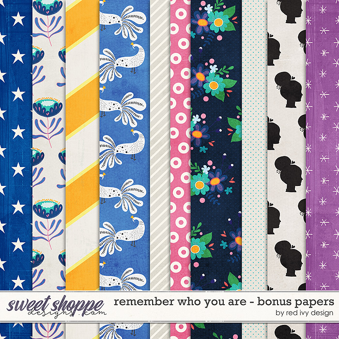 Remember Who You Are - Bonus Papers by Red Ivy Design