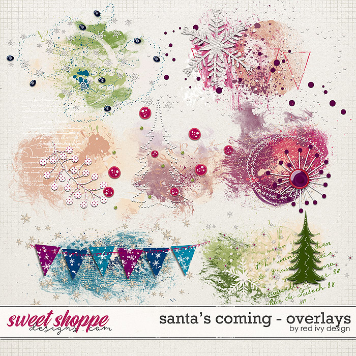 Santa's Coming - Overlays by Red Ivy Design