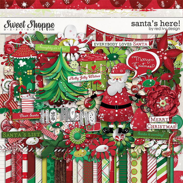 Santa's Here! by Red Ivy Design
