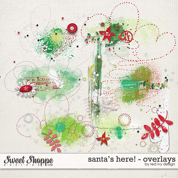 Santa's Here! - Overlays - by Red Ivy Design