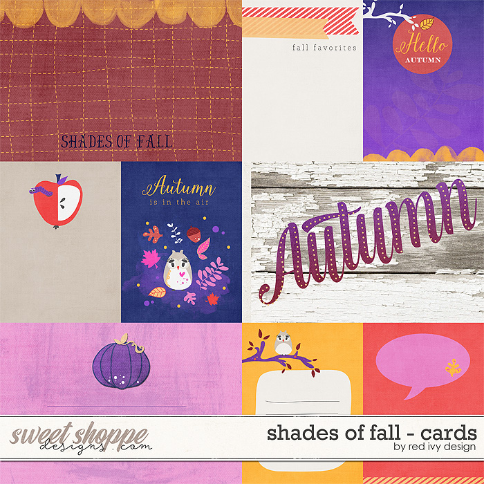 Shades of Fall - Cards