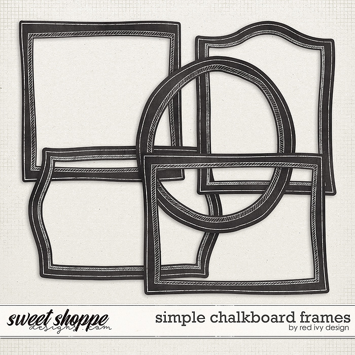 Simple Chalkboard Frames