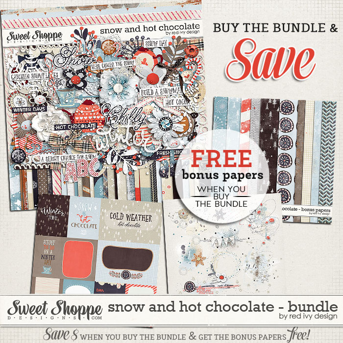 Snow and Hot Chocolate - Bundle - by Red Ivy Design
