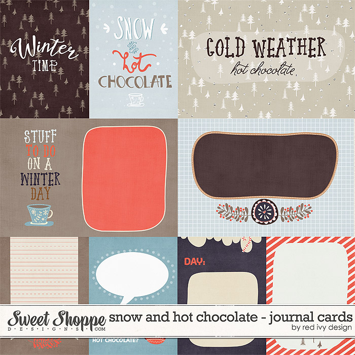 Snow and Hot Chocolate - Cards - by Red Ivy Design