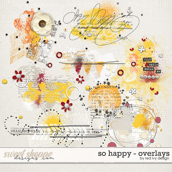 So Happy - Overlays by Red Ivy Design
