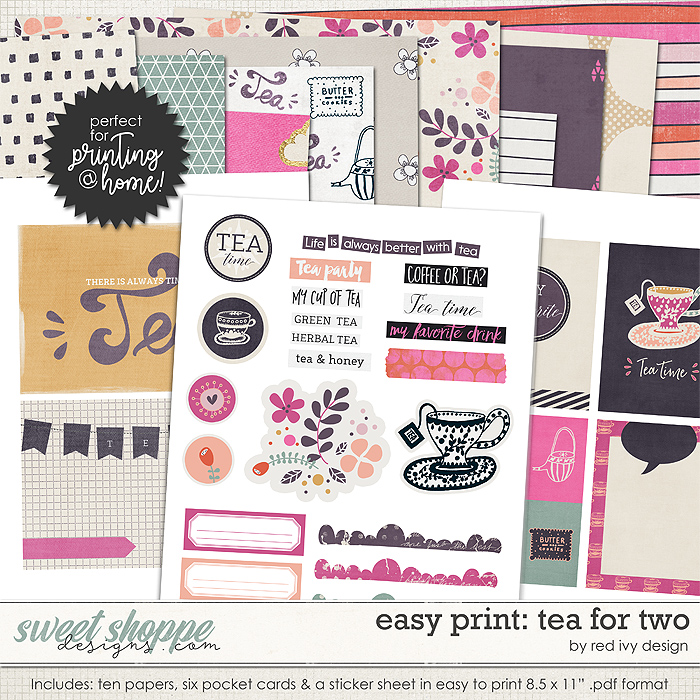 Easy Print: Tea For Two