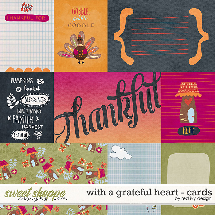 With A Grateful Heart - Cards by Red Ivy Design
