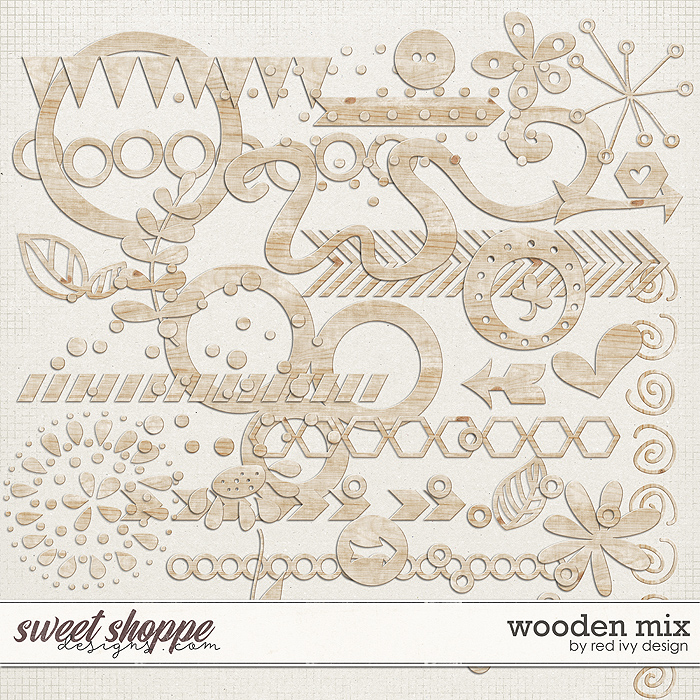 Wooden Mix by Red Ivy Design