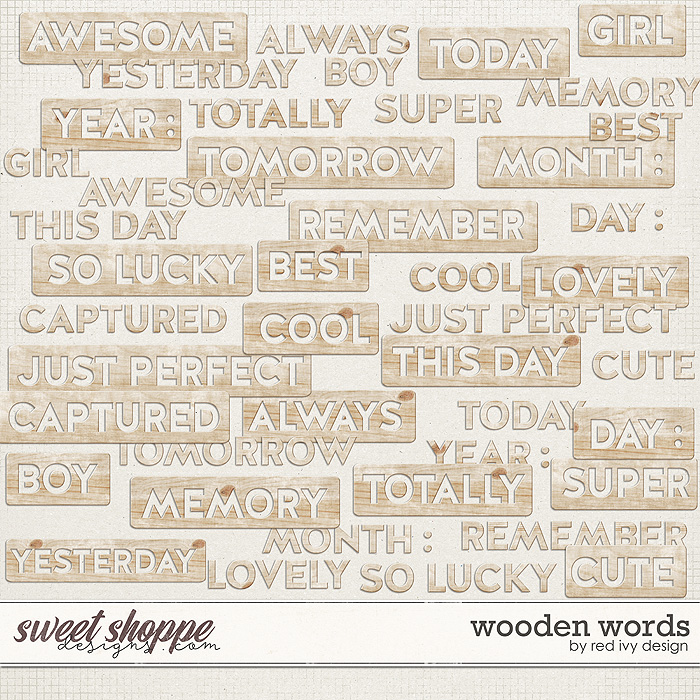 Wooden Words by Red Ivy Design